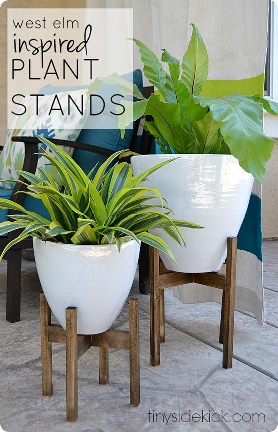 West Elm Knock Off Plant Stands