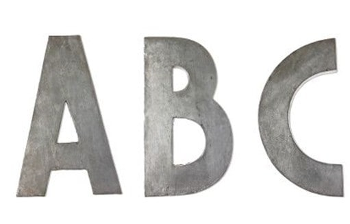 Zinc Letters from Anthropologie
