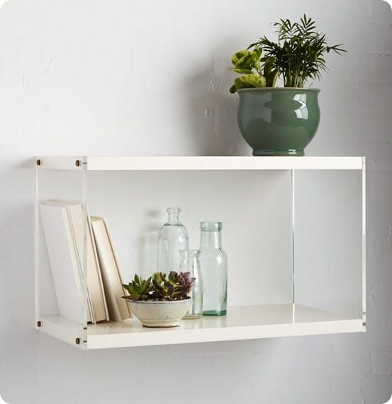 Acrylic Sided Shelf from West Elm