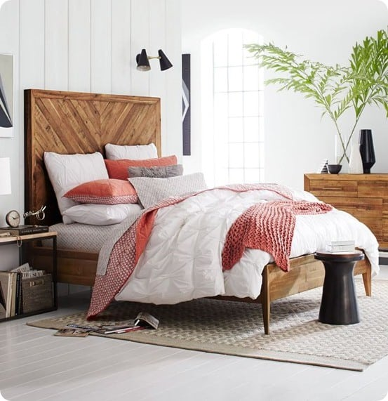 Beautiful Alexa Reclaimed Wood Bed Set