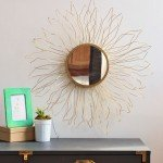 Simple DIY Gold Sunburst Mirror