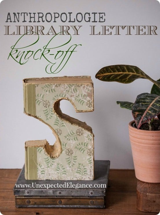 Anthropologie Knock Off Library Letter