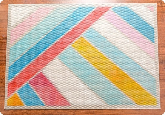 Anthropologie Knock Off Striped Painted Rug