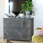 Weathered Grey Dresser Makeover