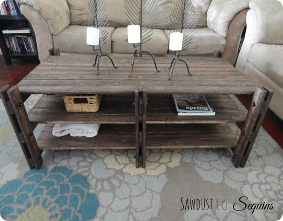 Industrial farmhouse coffee table for Industrial farmhouse coffee table