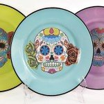 Painted Sugar Skull Plates