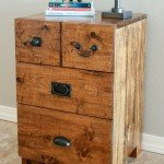 Rustic Wood Nightstand