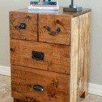 Rustic Wood Nightstand