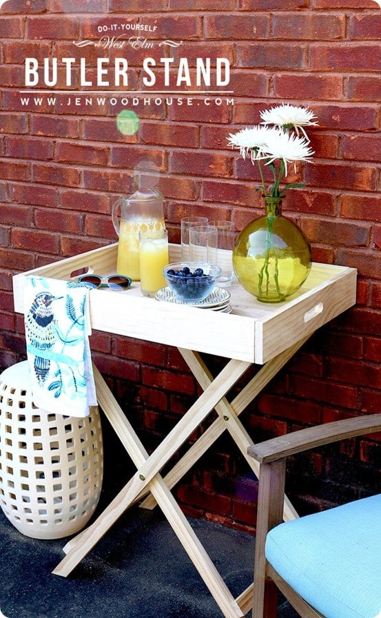 DIY Furniture ~ West Elm Knock Off Butler Tray Stand