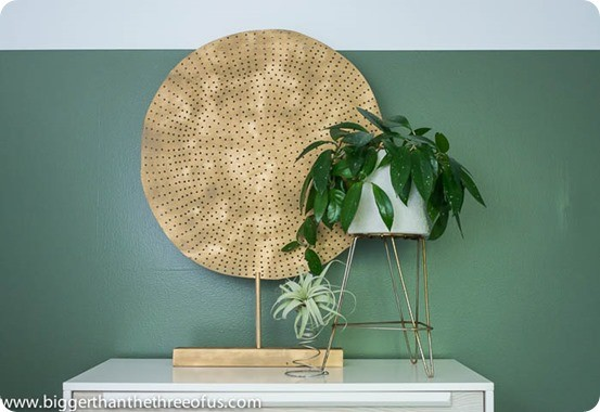 DIY Home Decor ~ Crate and Barrel Knock Off Gold Medallion