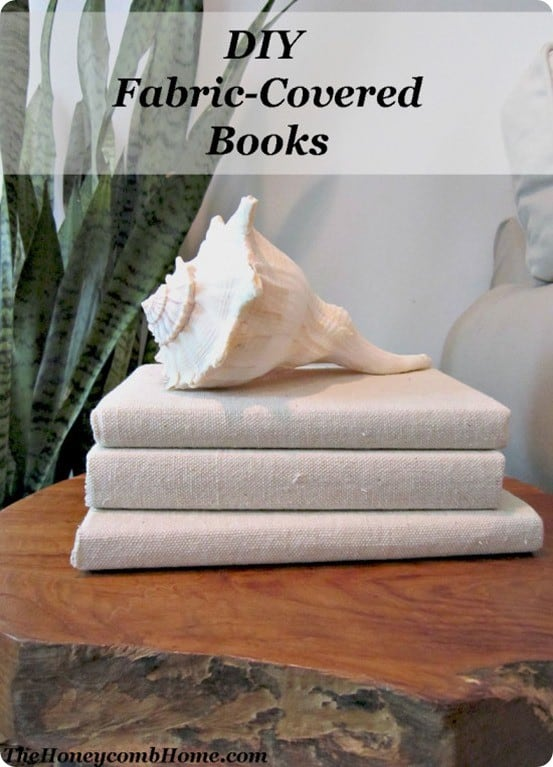 DIY Home Decor ~ Fabric Covered Books