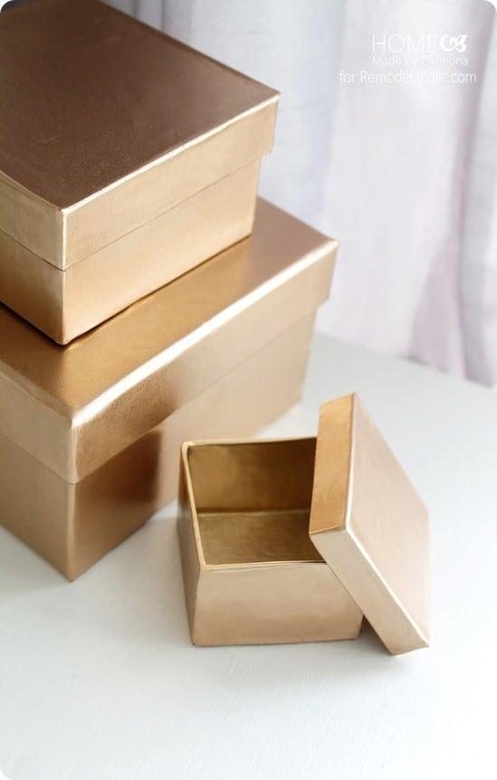 Decorative Gold Storage Boxes Knockoffdecor Com