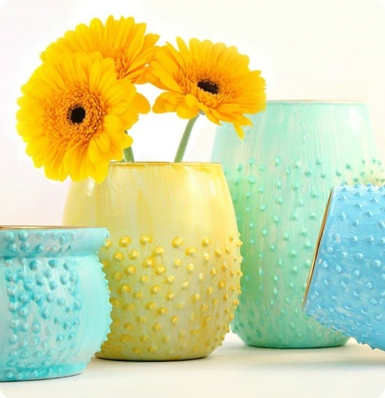 DIY Home Decor ~ Hobnail Vases