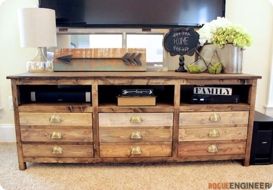 DIY Home Decor ~ Printmaker Media Console