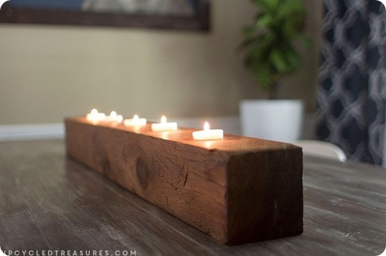 DIY Home Decor ~ Rustic Tea Light Candle Holder