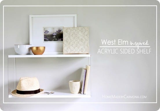 DIY Home Decor ~ West Elm Knock Off Shelf