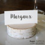 Wood Slice Place Card Holders