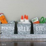 Galvanized Metal Desk Organizer for Kids