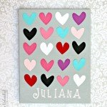 Personalized Heart Canvas for a Little Girl's Room