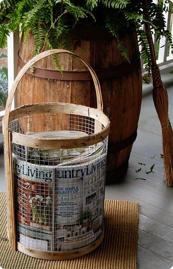 How to Make a Wood and Wire Basket