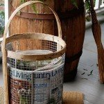Rustic Wood and Wire Basket