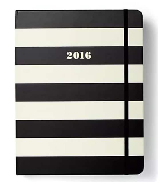 Kate Spade Large Agenda Black Stripe