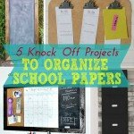 5 Knock-Off Ideas to Organize Papers