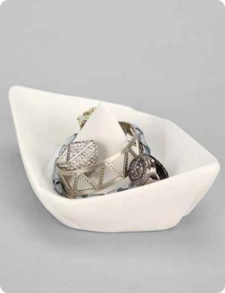 Origami Boat Catchall Dish
