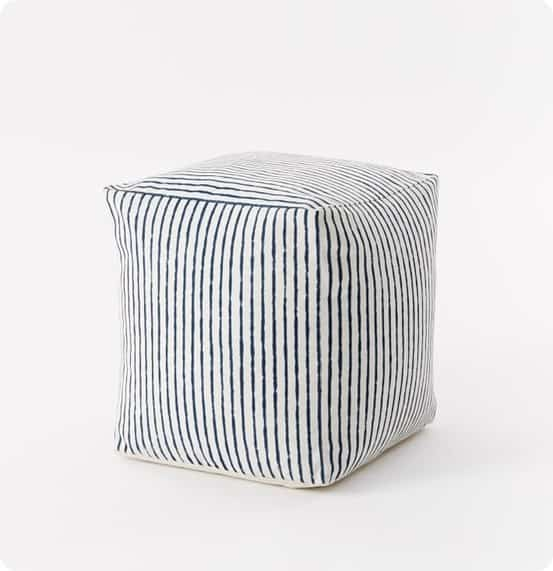 Outdoor Stripe Pouf