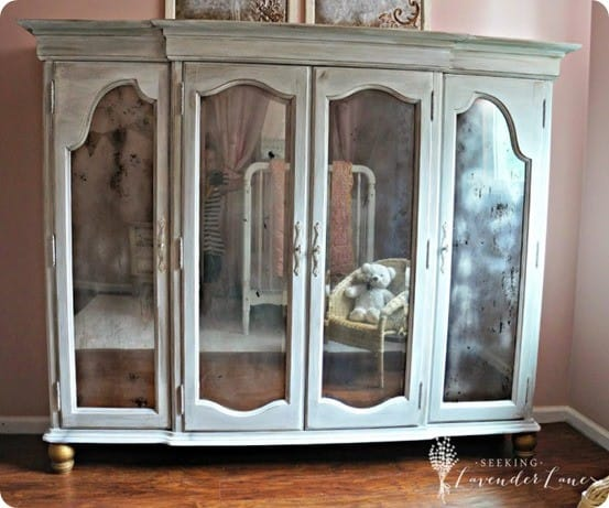 Painted Furniture ~ Chalk Paint Armoire with Mirrored Doors