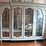 Chalk Paint Armoire with Antiqued Mirror Insets