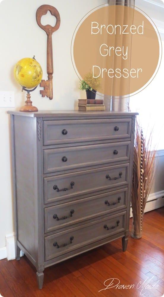 Painted Furniture ~ Restoration Hardware Knock Off Gray Dresser