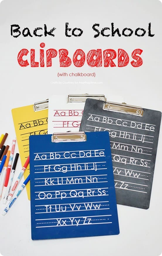 Pottery Barn Knock Off Back to School Clipboards