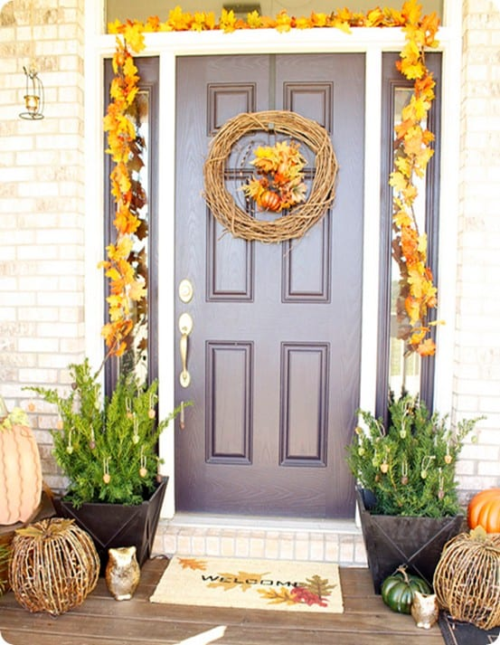 Pottery Barn Knock Off Fall Front Porch