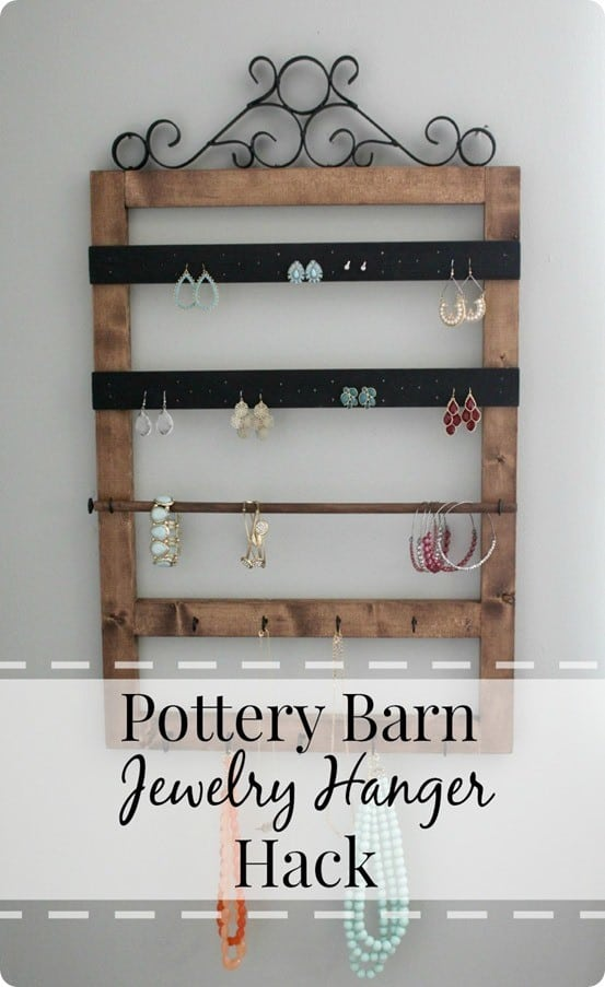 Pottery Barn Knock Off Jewelry Hanger