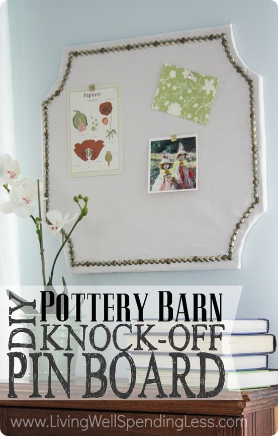 Pottery Barn Knock Off Pinboard