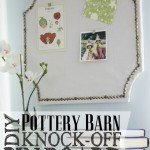 Shaped Pinboard with Nailhead Trim