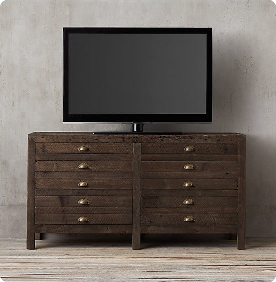 Printmaker's Console from Restoration Hardware