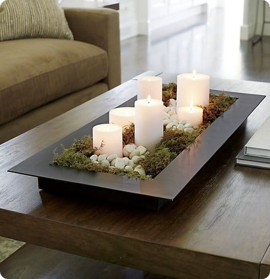 Reflection Black Metal Centerpiece