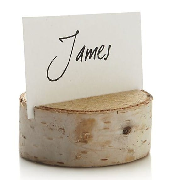 Stump Place Card Holder