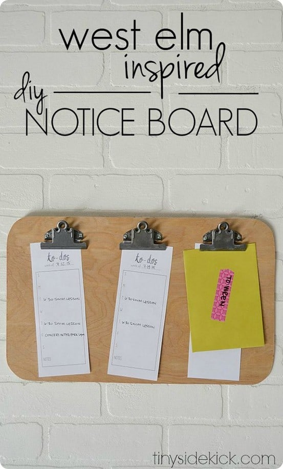 West Elm Inspired Notice Board