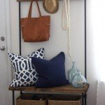 Wood and Pipe Entryway Organizer