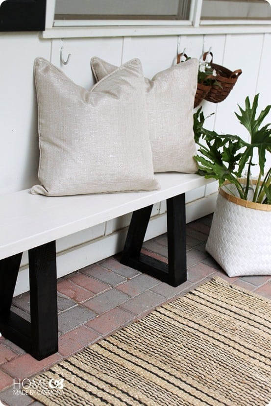 West Elm Knock Off Outdoor Bench