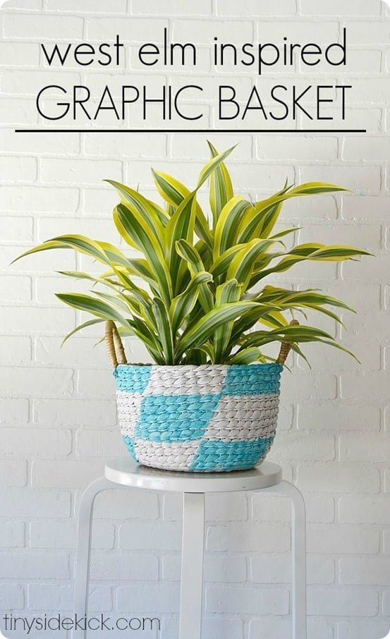 West Elm Knock Off Painted Basket