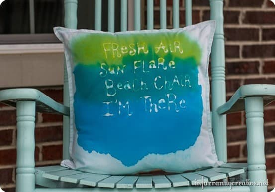 West Elm Knock Off Water Color Pillow