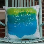 Watercolor Pillow with Summer Saying