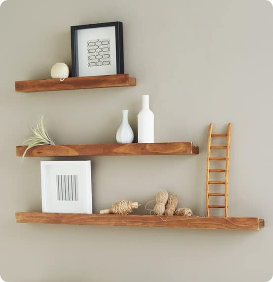 West Elm Salvaged Wood Deep Picture Ledge