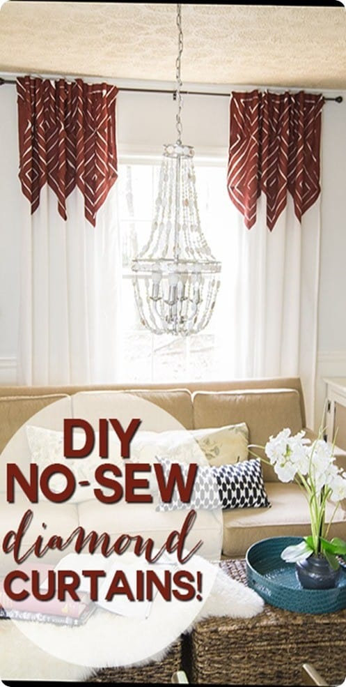 DIY Home Decor | Anthropologie Knock Off Diamond Accent Curtains