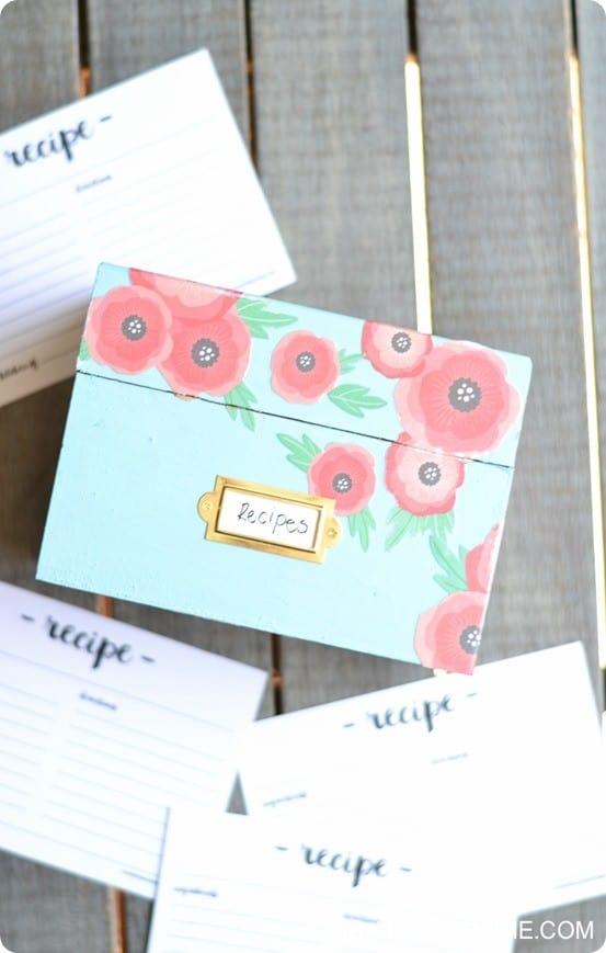 Decoupage Floral Recipe Box Knockoffdecor Com