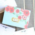 Decoupage Floral Recipe Box